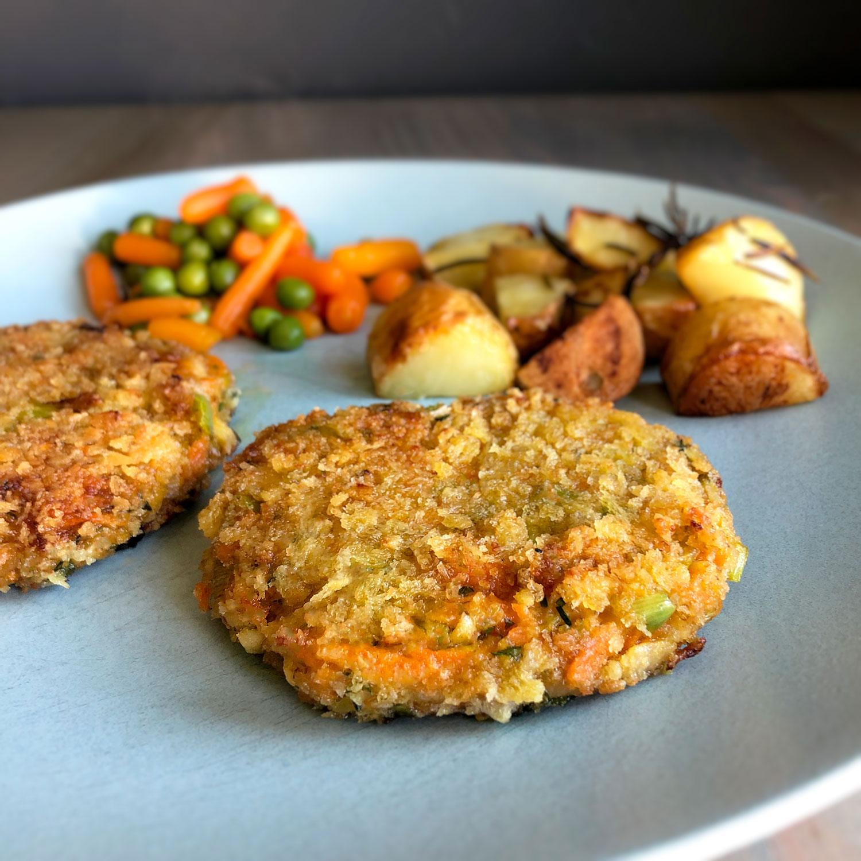 vegetarisches Gemüse-Schnitzel