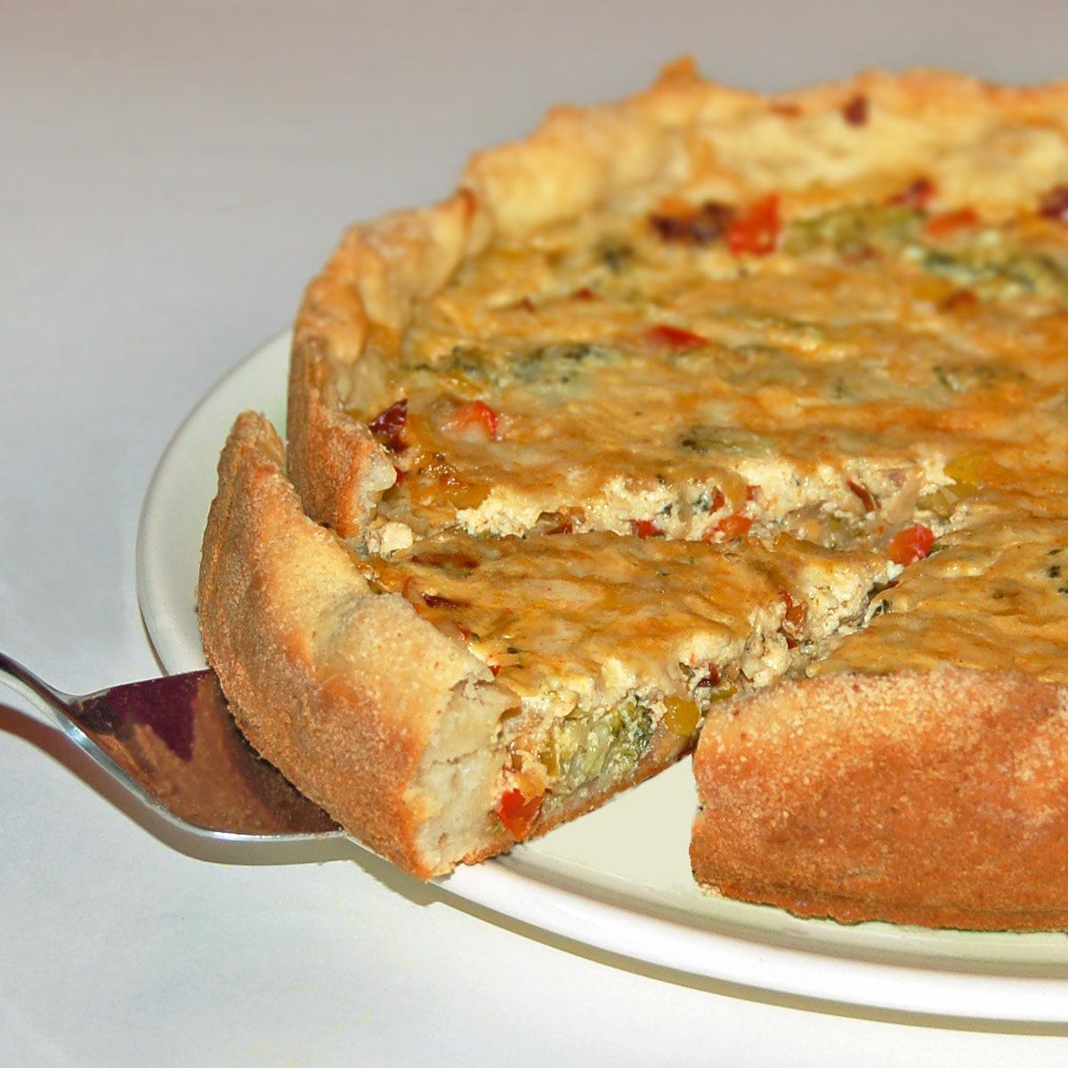 Paprika-Brokkoli-Quiche