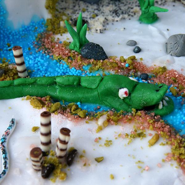 Hochzeitskuchen Krokodil