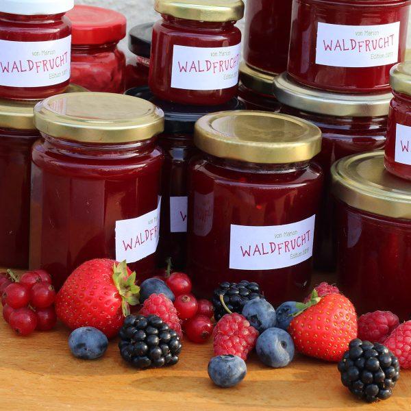 Waldfrucht-Marmelade ohne Kerne