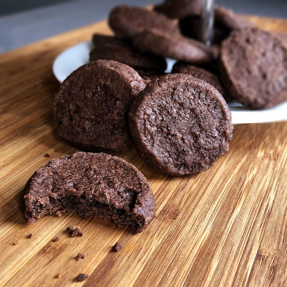 Sablés au chocolat | Zartbitterkekse mit Fleur de Sel