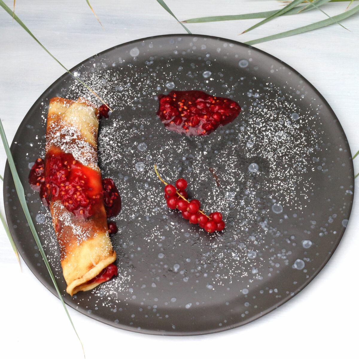 Pandekager med ribs | Pfannkuchen mit roten Johannisbeeren