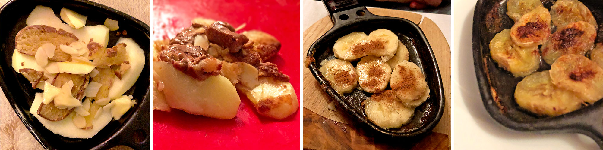Raclettepfännchen süß / Dessert