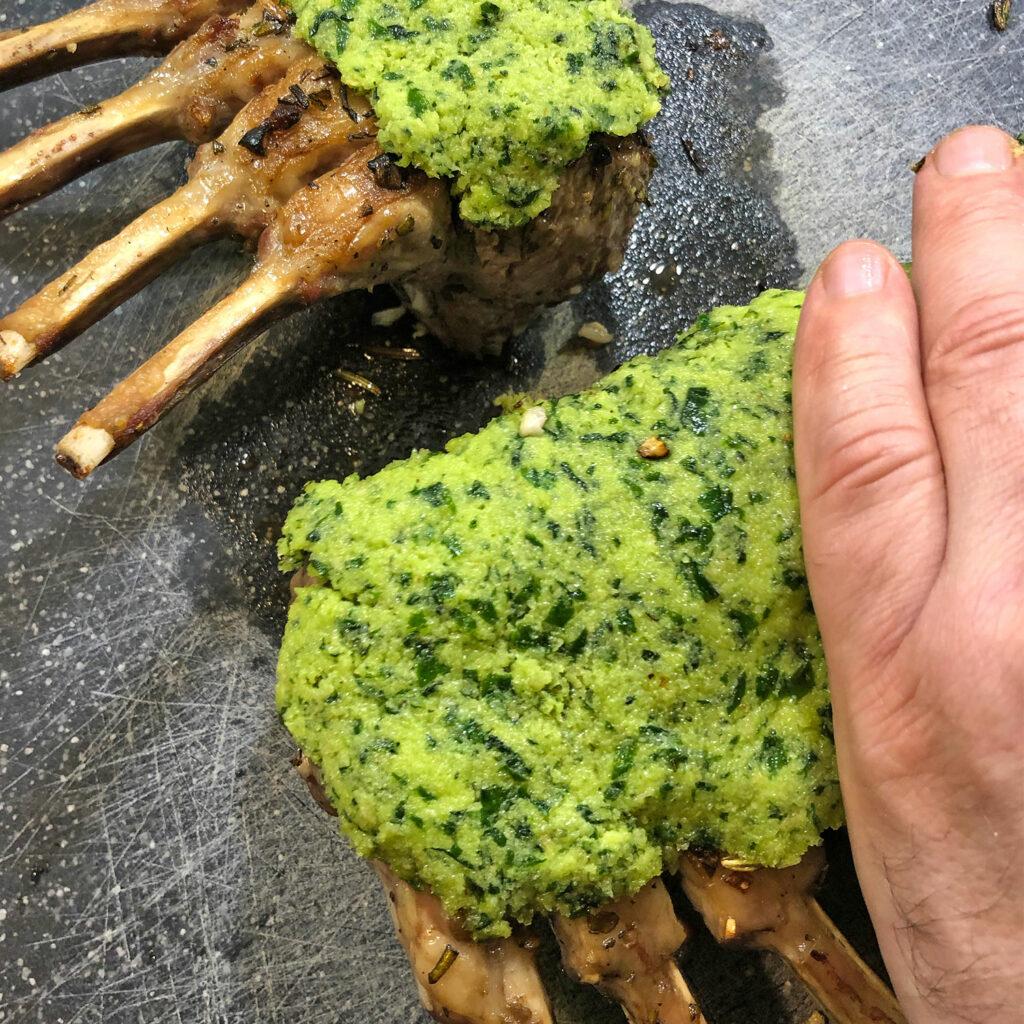 Lamm mit Kräuterkruste