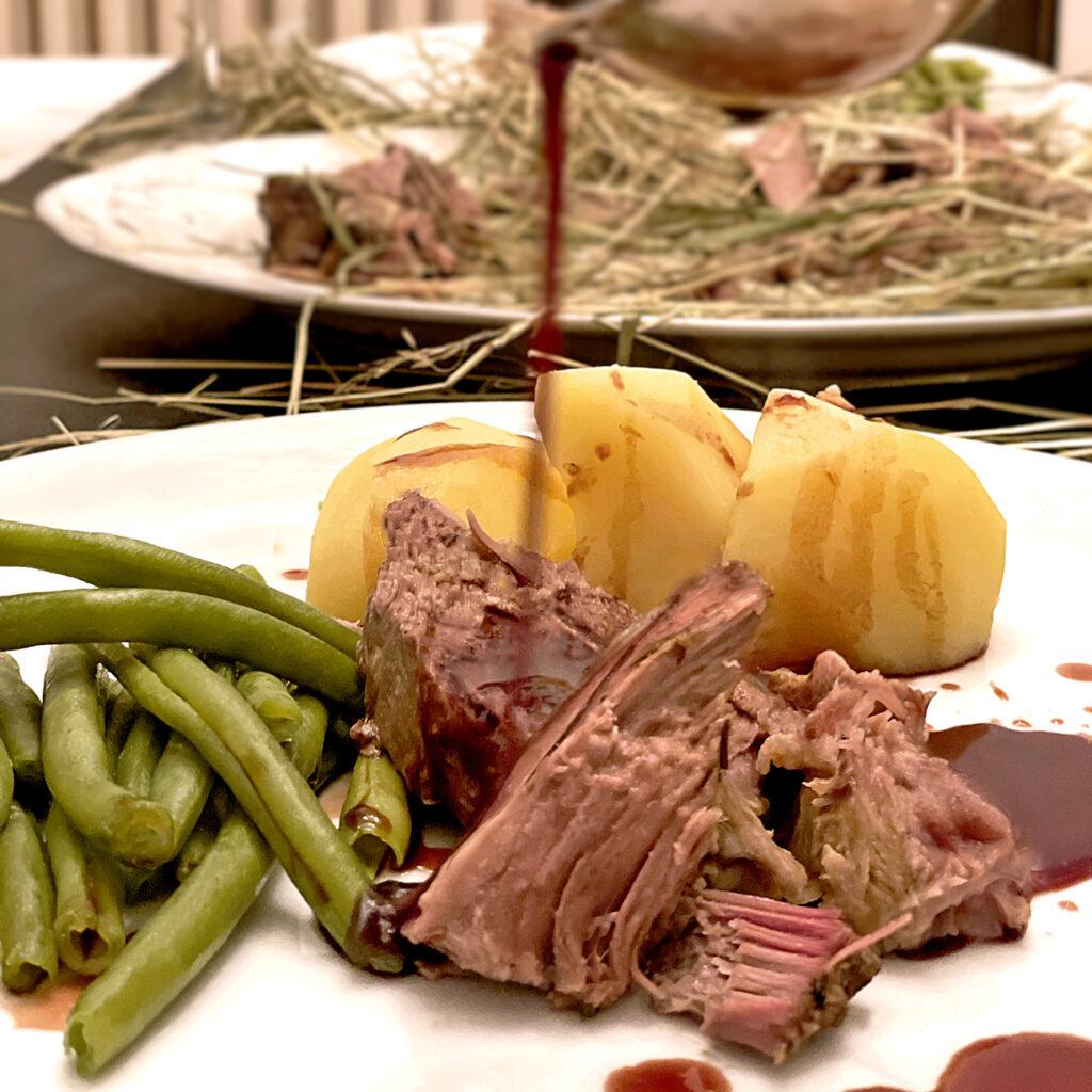 Lamm in Heu Rezept | Niedrigtemperatur | Koch für 2!