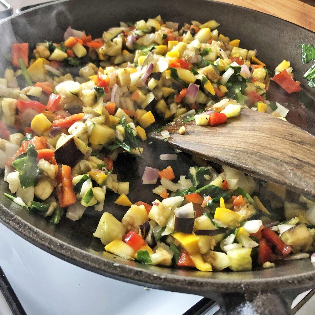 Bärlauch-Ravioli gefüllt mit Grillgemüse | Koch für 2!