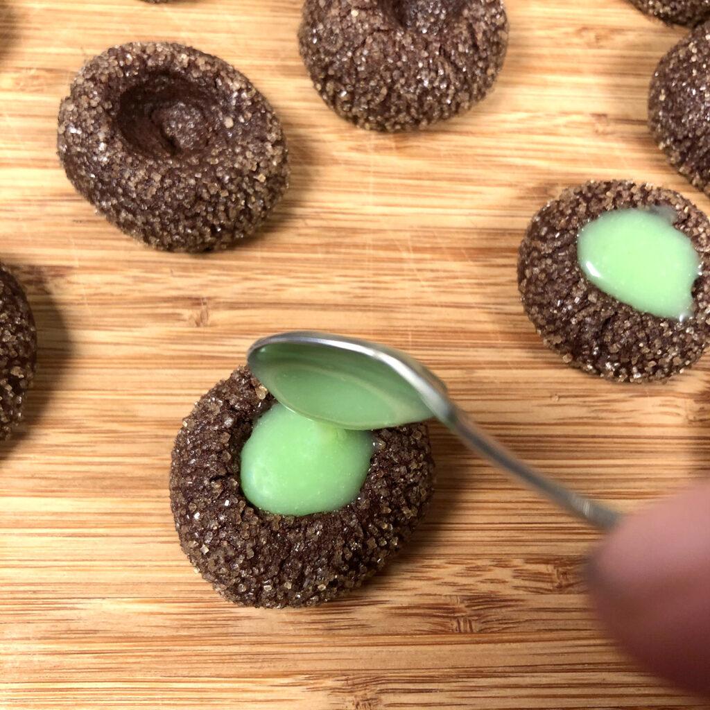 Mint-Cookies mit Minzcreme-Füllung   Koch für 2!