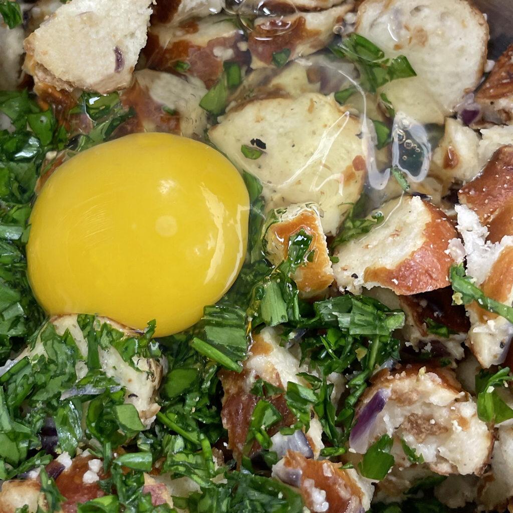 Zutaten Bärlauch-Brezn-Knödel | Koch für 2!